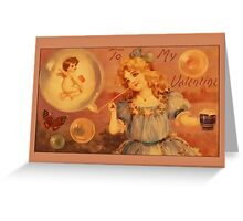 Valentine-Bubble Girl Greeting Card
