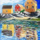 The landing, Monhegan Maine by Dave  Higgins