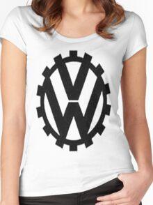 WW2 VW Logo Women's Fitted Scoop T-Shirt