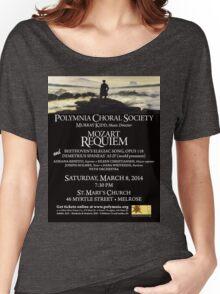 Mozart Requiem (March 2014) Women's Relaxed Fit T-Shirt