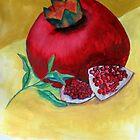 A ripe pomegranate by Elizabeth Kendall