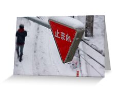 Stop ... It is snowing Greeting Card