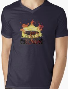 CROWN Mens V-Neck T-Shirt