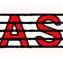 Bass Red II Sticker