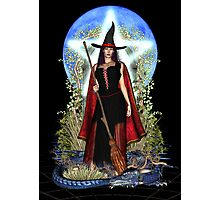 Blue Moon Witch Photographic Print