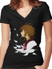 Lost Wings Women's Fitted V-Neck T-Shirt