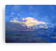 Blue Sky on a Snowy Morning Canvas Print