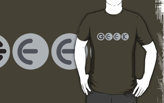 geek power button font - T Shirt by PixelRider