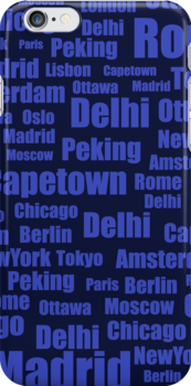 pattern with cities names by Marishkayu