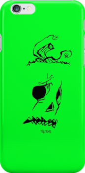 Pumpkinhead - Green - Iphone Case by tribal191983