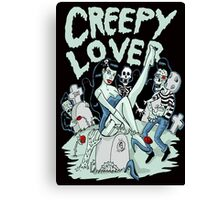 Creepy lover Canvas Print