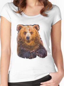 bear - hulk Women's Fitted Scoop T-Shirt