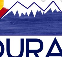 Ouray Colorado wood mountains Sticker