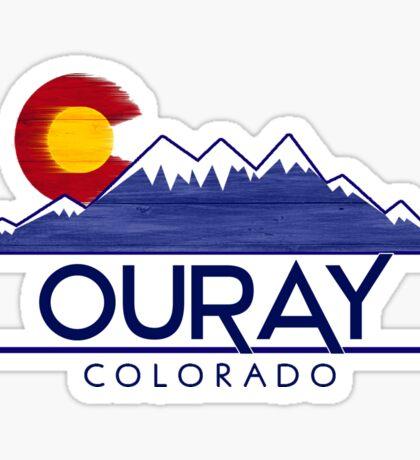 Ouray Colorado wood mountains Sticker