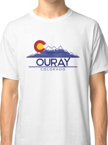Ouray Colorado wood mountains Classic T-Shirt
