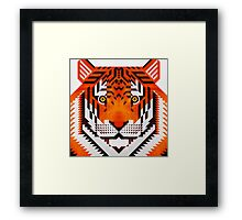 Triangle Tiger Framed Print