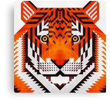 Triangle Tiger Canvas Print