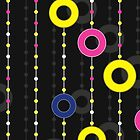 pattern with circles on thread by Marishkayu
