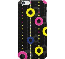 pattern with circles on thread iPhone Case/Skin