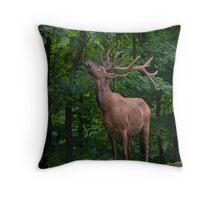 Eating Elk Throw Pillow
