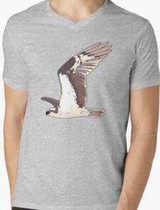 Osprey Bird Flying Mens V-Neck T-Shirt