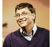 celebrities  bill gates 2 Photographic Print