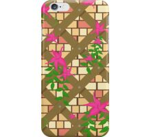 wicker with pink flowers iPhone Case/Skin