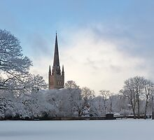 Norwich Cathedral in the Snow by Nicholas Jermy
