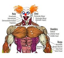 Muscles the Clown by Uncle McPaint