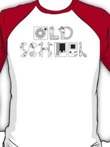Old School Gamer (Black Type) T-Shirt