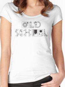 Old School Gamer (Black Type) Women's Fitted Scoop T-Shirt