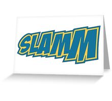 SLAMM - Blue and Gold Greeting Card