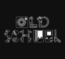 Old School Gamer (White Type) Kids Clothes