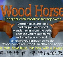 Chinese Zodiac, wood horse, 1954, 2014, born, by Valxart