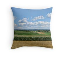 Drive by shooting in the country Throw Pillow