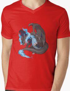 Charizard Mega Evolution X Mens V-Neck T-Shirt