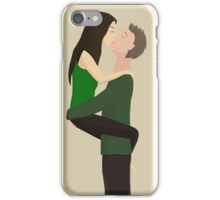 couple ardently kisses iPhone Case/Skin