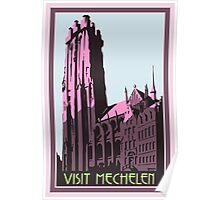 Mechelen retro vintage travel advert English version Poster