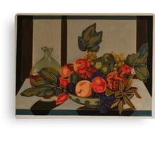 Still Life With Fruit And Wine Canvas Print