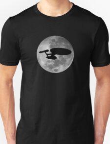 USS Enterprise against the Moon Unisex T-Shirt