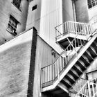 Up the Down Staircase BW - Greensboro by Dan Carmichael