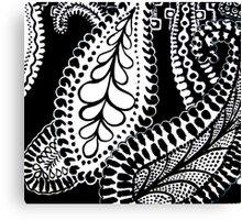 CEM-Black-White-002-Contemporary Ethnic Mix Canvas Print