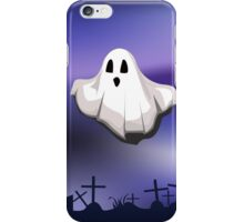 ghost on cemetery iPhone Case/Skin