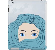 girl with blue hair iPad Case/Skin