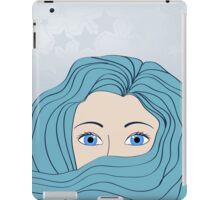 girl with blue hair iPad Case/Skin