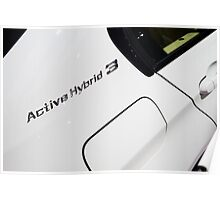 BMW ActiveHybrid 3 M Sport [ Print & iPad / iPod / iPhone Case ] Poster