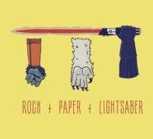 Rock Paper Lightsaber One Piece - Short Sleeve