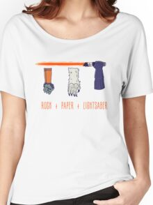 Rock Paper Lightsaber Women's Relaxed Fit T-Shirt
