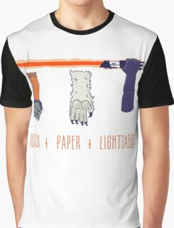 Rock Paper Lightsaber Graphic T-Shirt