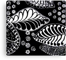 CEM-Black-White-004-Contemporary Ethnic Mix Canvas Print